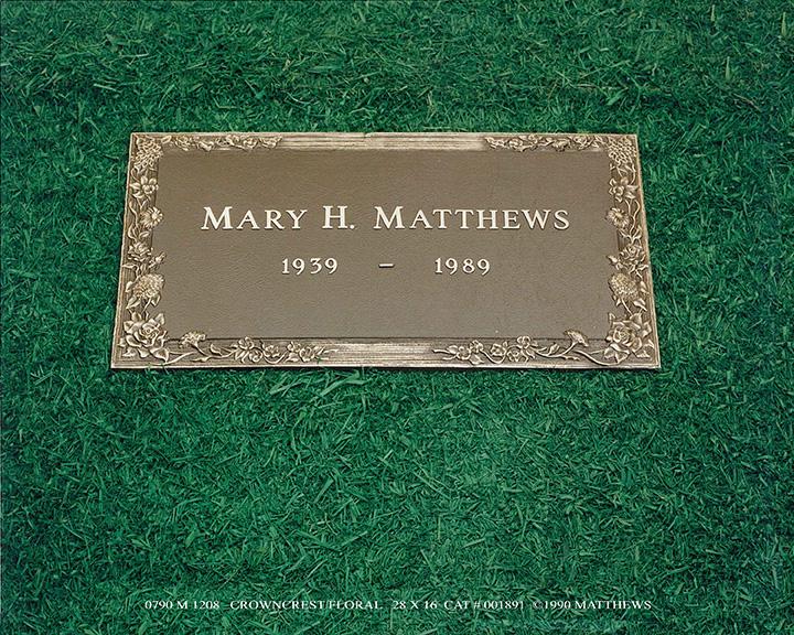 bronze grave markers